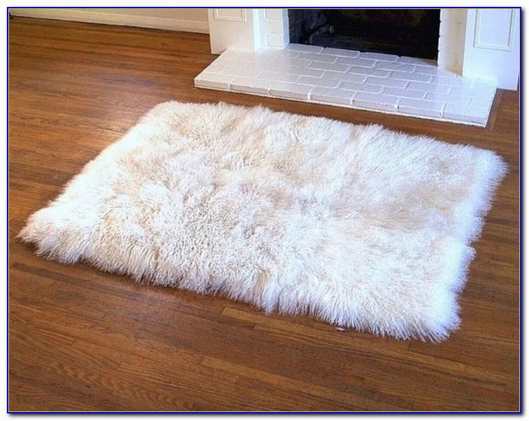 White Furry Rug Target
