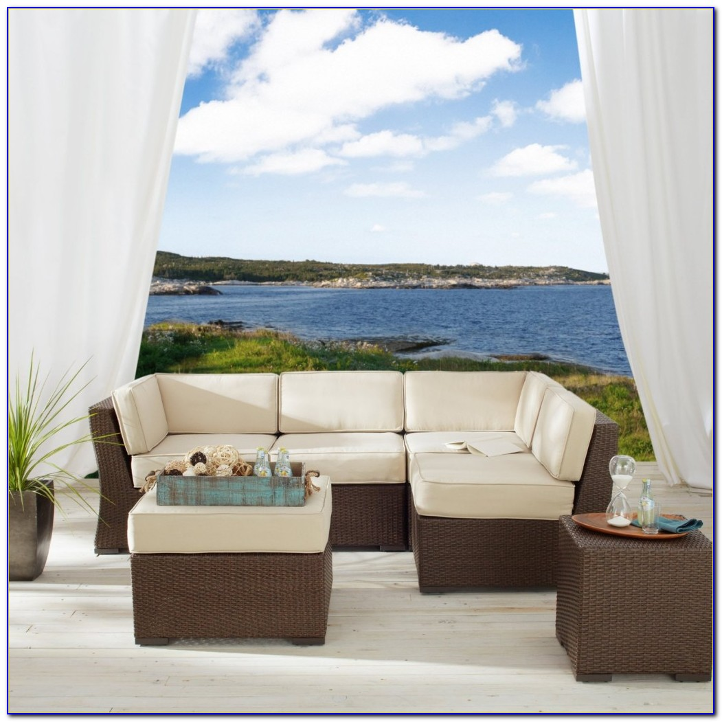 White Wicker Sectional Outdoor Furniture