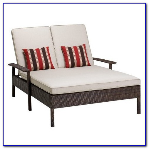 Wicker Patio Double Chaise Lounge