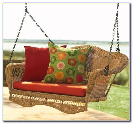 Wicker Patio Swing Set