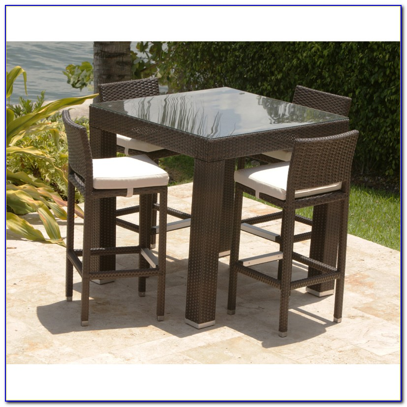 Wicker Patio Table Set
