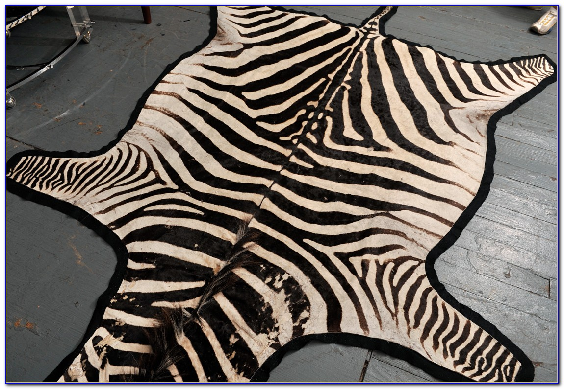 Zebra Skin Rug Australia