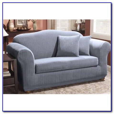 2 Piece Sofa Slipcover Blue