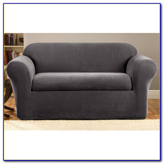 2 Piece Sofa Slipcover Gray