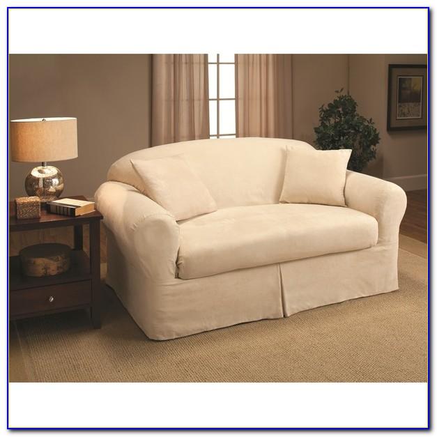 2 Piece Sofa Slipcover White