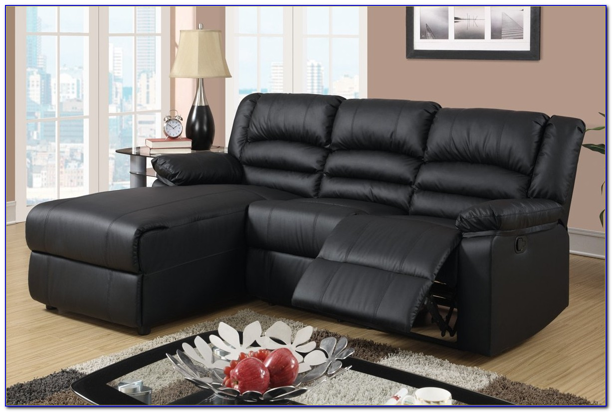 4087 Leather Sectional Sofa With Recliners