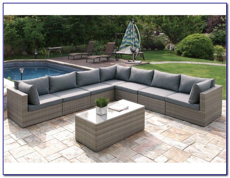 8 Piece Leather Sectional Sofa