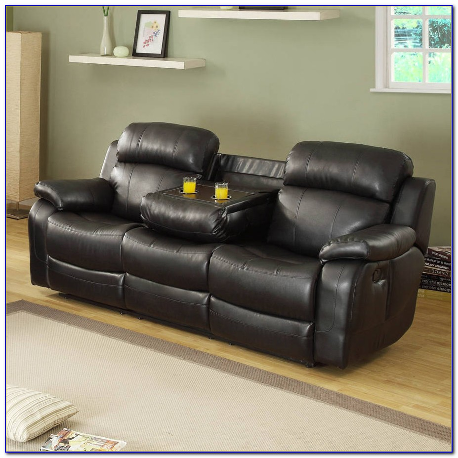 Alan Three Piece Reclining Sectional Sofa With Cup Holders