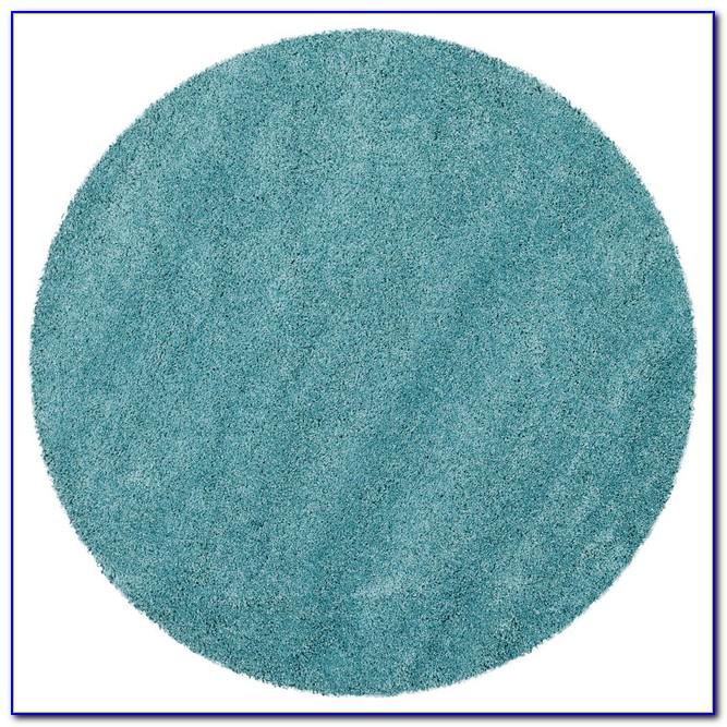 Aqua Blue Round Rug