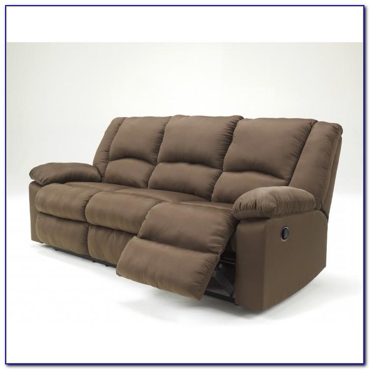 Ashley Furniture Chocolate Reclining Sofa