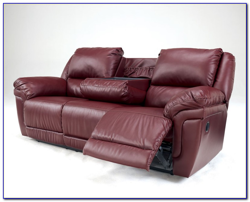 Ashley Reclining Sofa With Drop Down Table