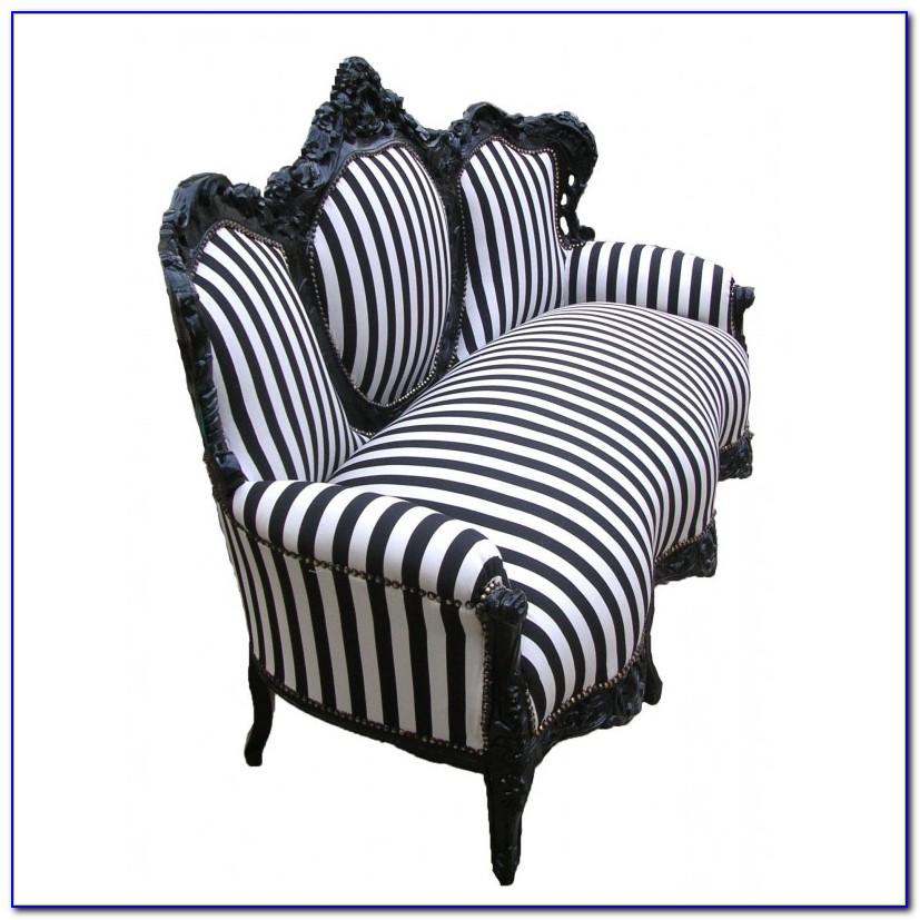 Black And White Striped Sofa Slipcover