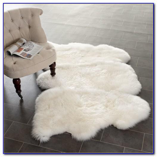 Black Fur Area Rug