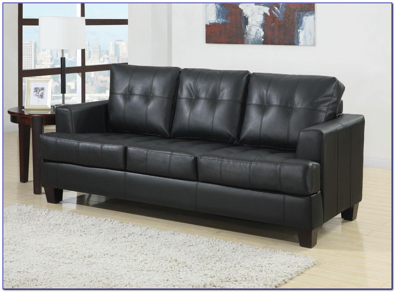 Black Leather Sleeper Sofa Full