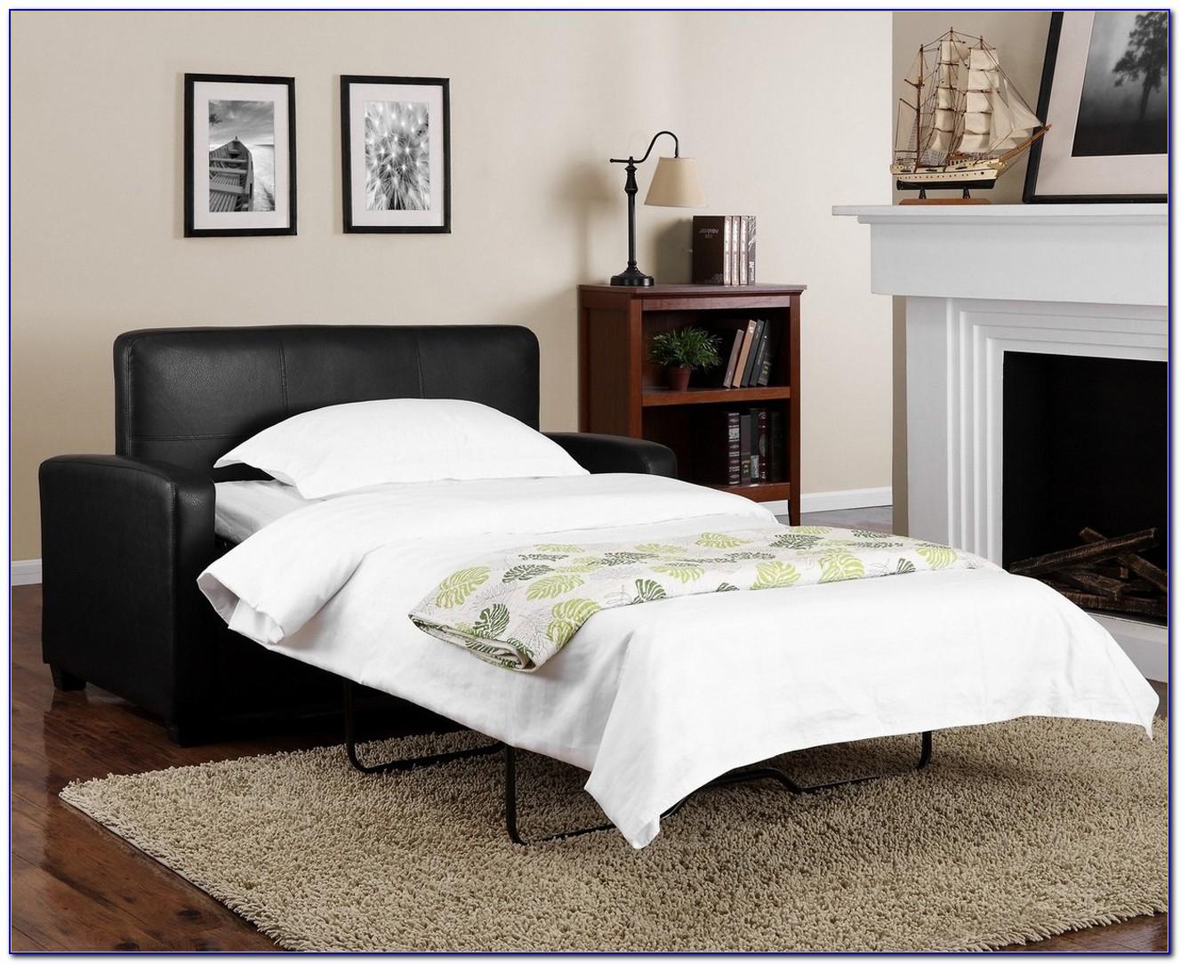Black Leather Sleeper Sofa Sectional
