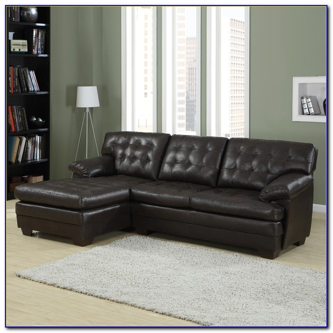 Bonded Leather Sectional Couch