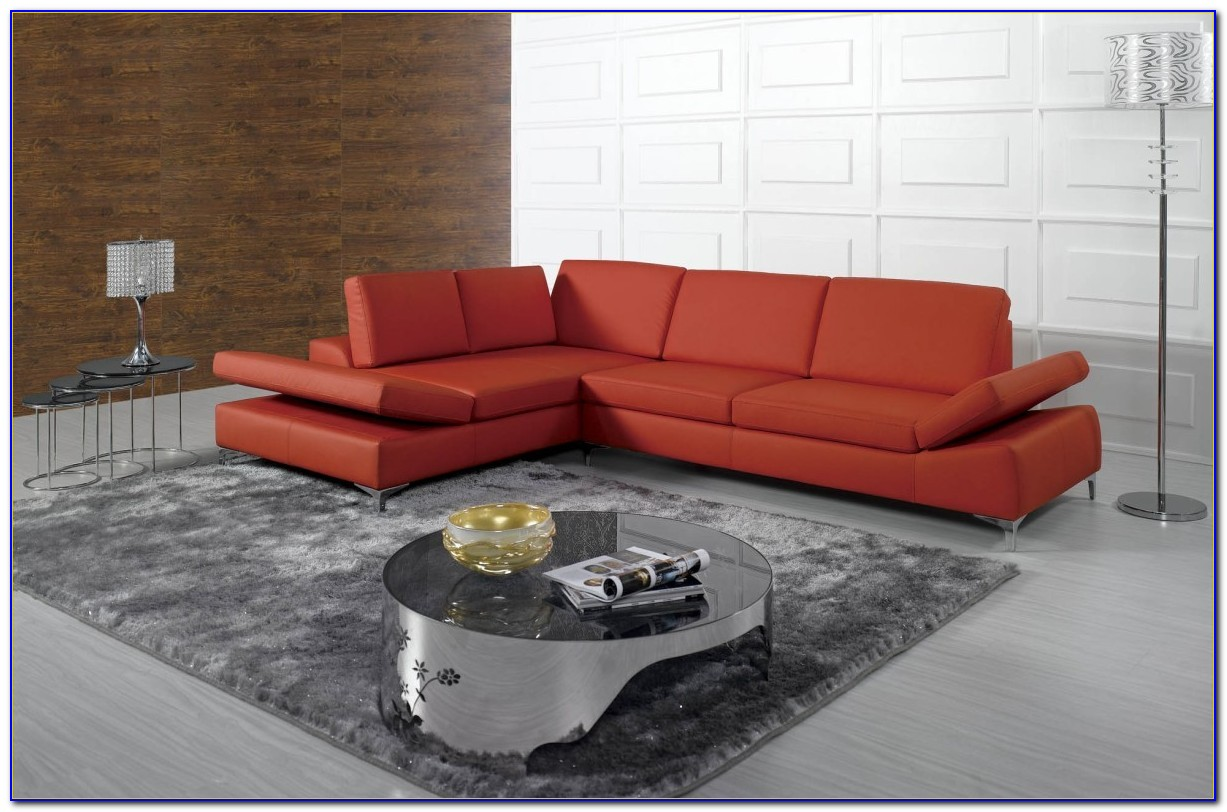 Bonded Leather Sectional Sofa F7358