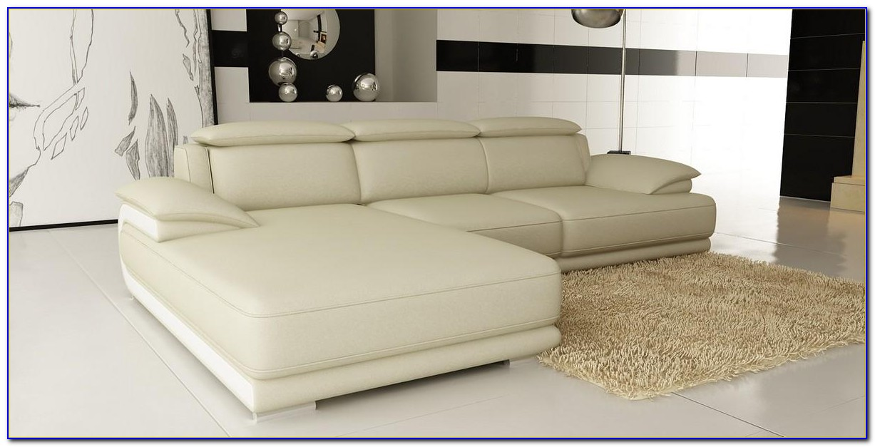 Bonded Leather Sectional Sofa With Chaise