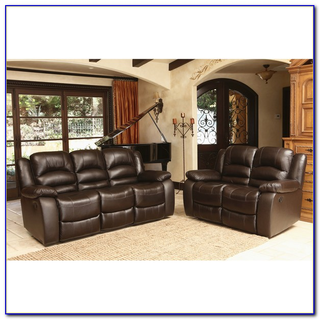 Bradley Top Grain Leather Reclining Sofa