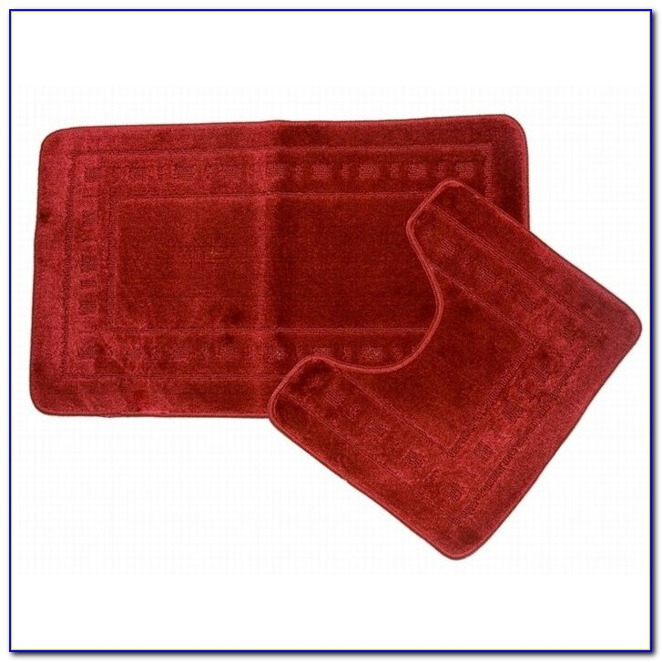 Burgundy Bath Mat Set