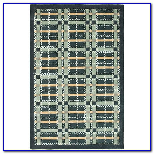Checkered Plaid Area Rugs