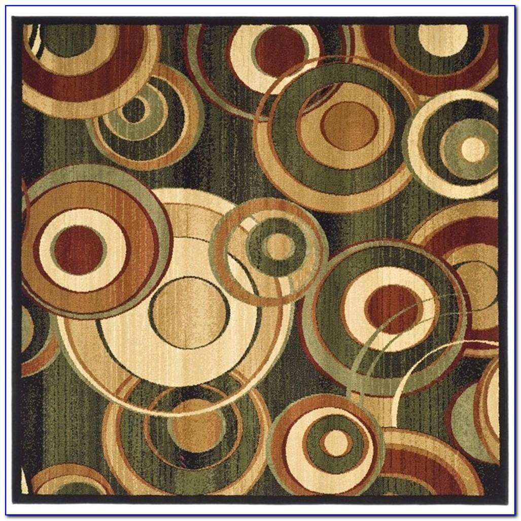 Circle Area Rugs Brown