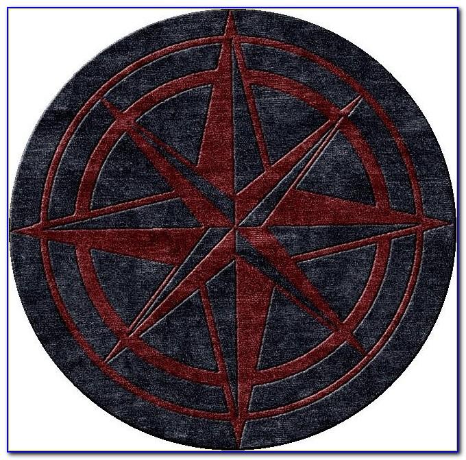Compass Rose Rug Round 5024