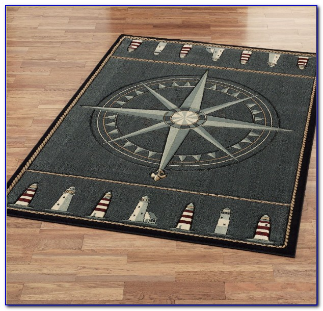 Compass Rose Throw Rug