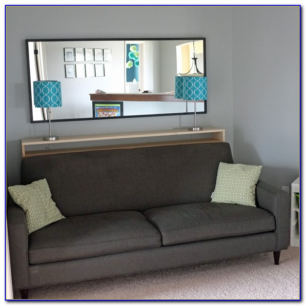 Console Table Behind Couch In Front Of Window