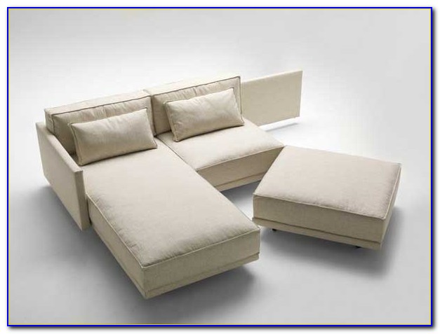 Contemporary Leather Sectional Sleeper Sofa