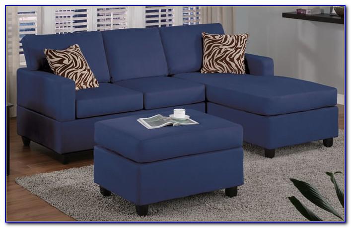 Contemporary Navy Blue Sectional Sofa