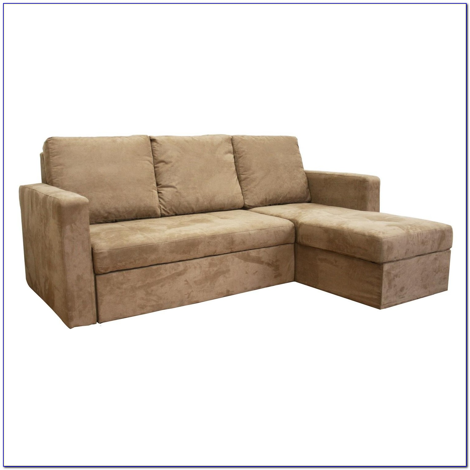 Convertible Sectional Sofa Bed Camel Chocolate