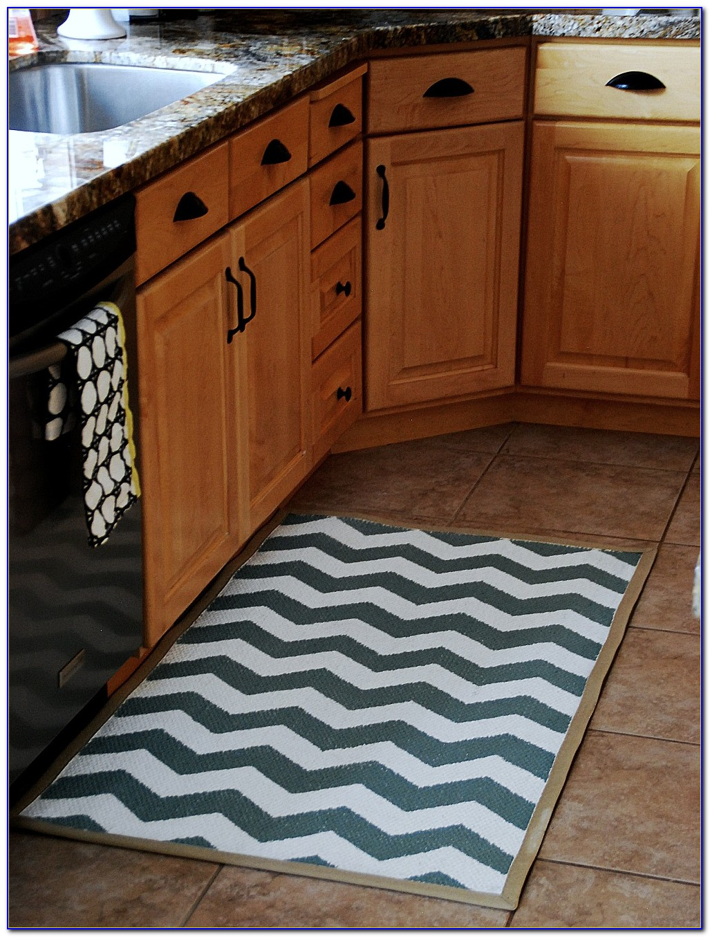Corner Kitchen Sink Rug