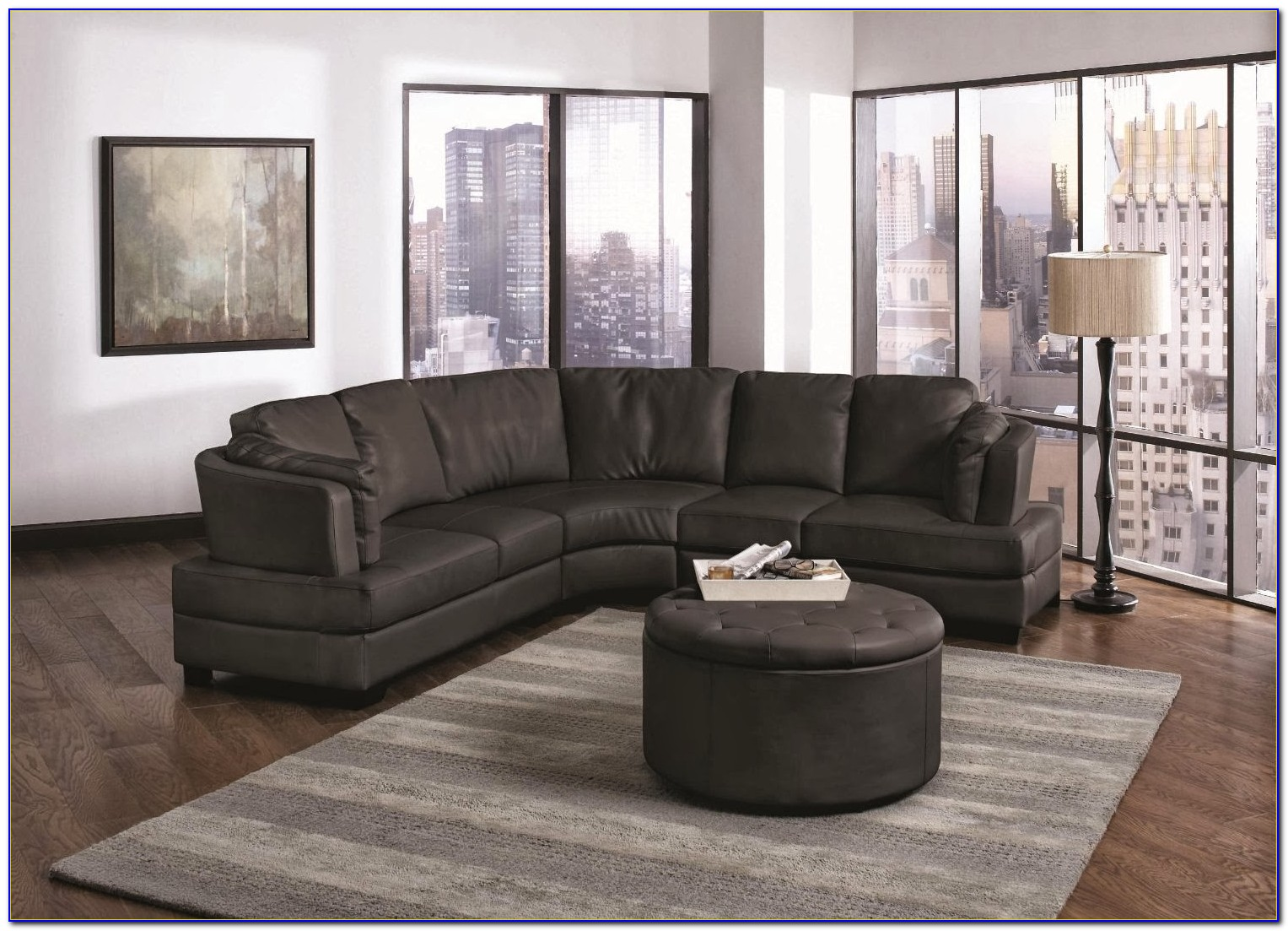 Curved Leather Sectional Couches