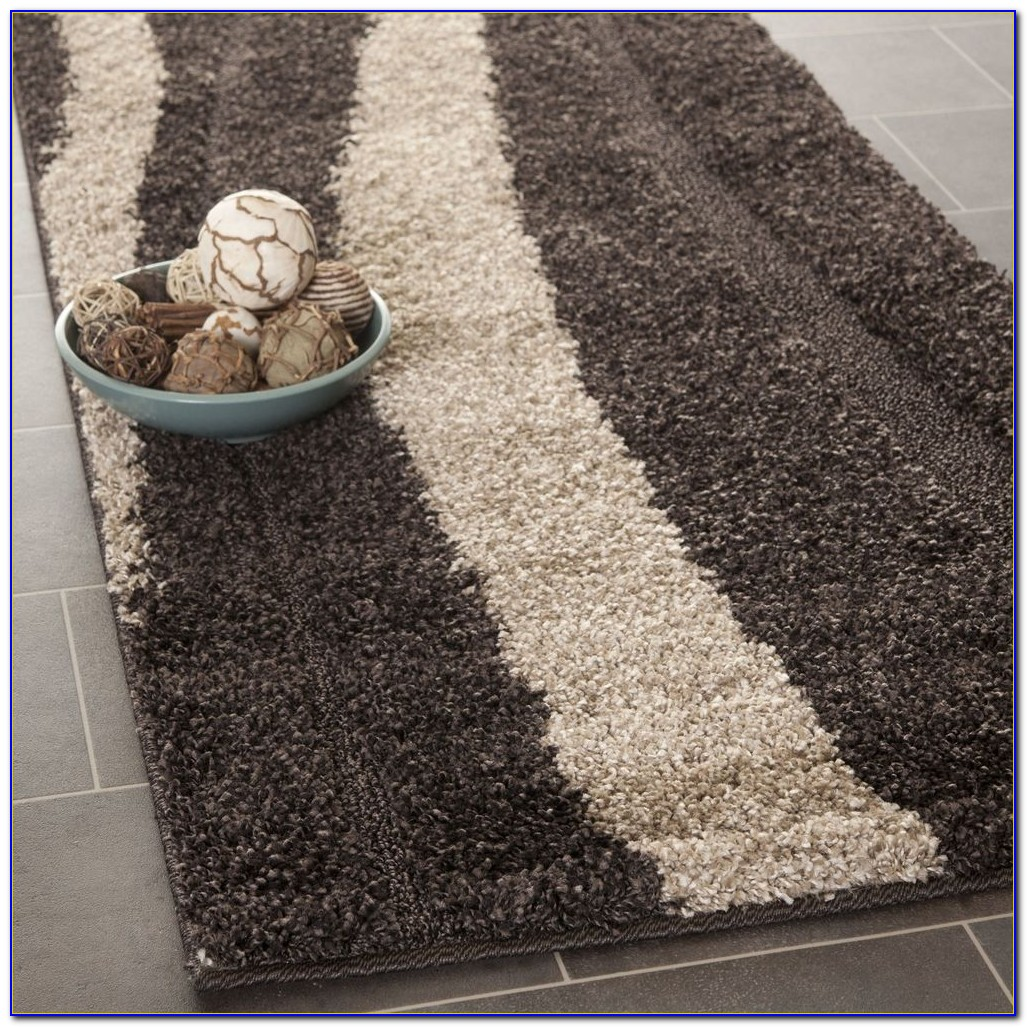 Dark Brown Runner Rug