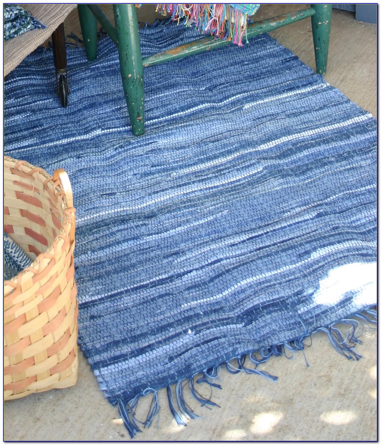 Denim Rag Rug Weaving