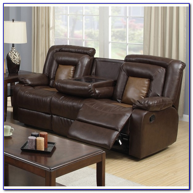 Dual Reclining Sofa With Drop Down Table