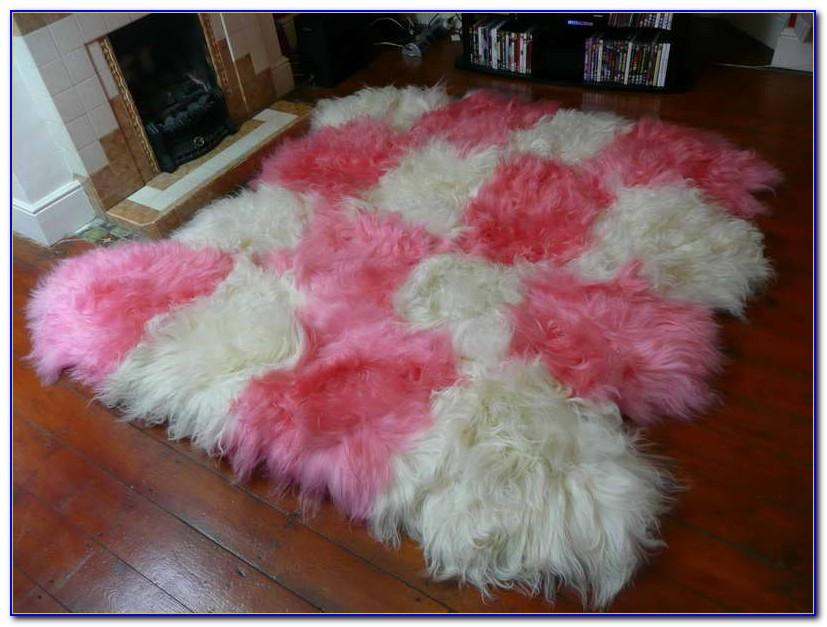 Dusky Pink Sheepskin Rug