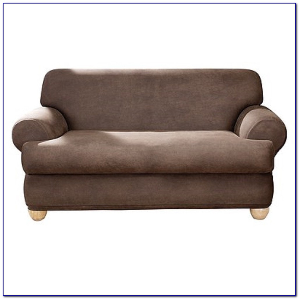 Fabric Slipcover For Leather Sofa