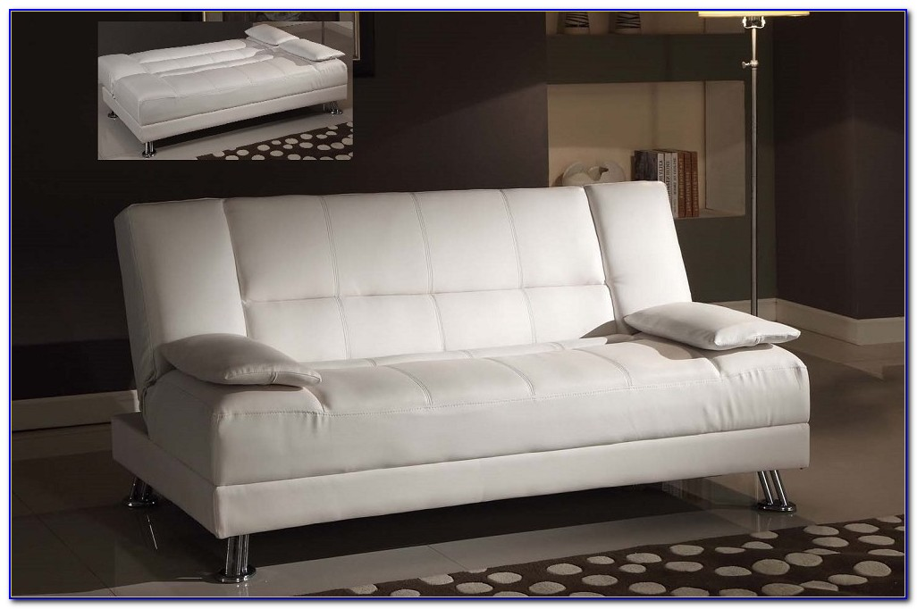 Faux Leather Futon Sofa Bed