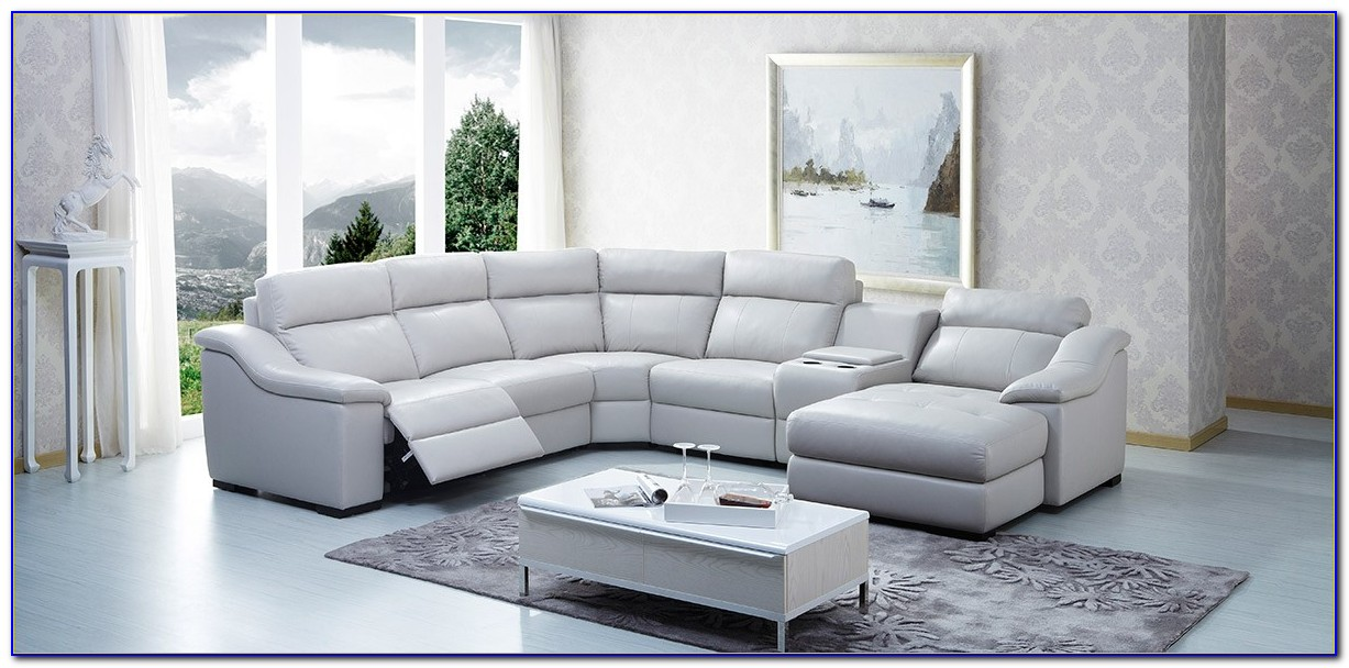 Ferrara Leather Recliner Sectional Sofa By Abbyson Living