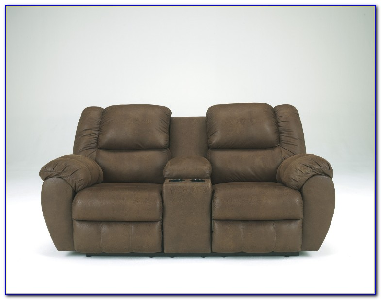 Flexsteel Reclining Sofa With Console