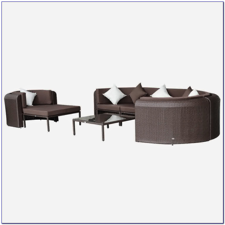 Genuine Luxxella Outdoor Patio Wicker Sofa Sectional Furniture Bella