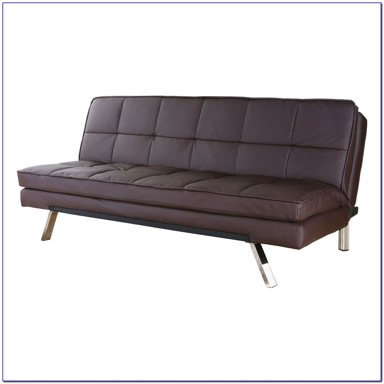 Gray Faux Leather Sleeper Sofa