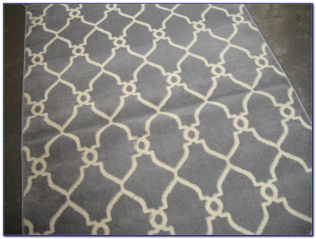Gray Geometric Rug 8x10