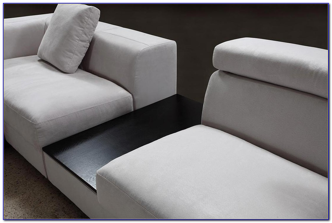Gray Microfiber Sectional Sofa Set