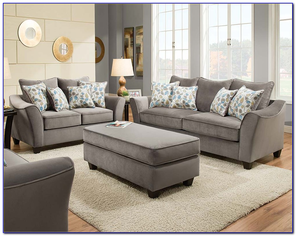 Grey Couches And Loveseats