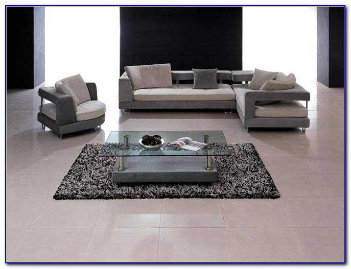 Grey Microfiber Contemporary Sectional Sofa