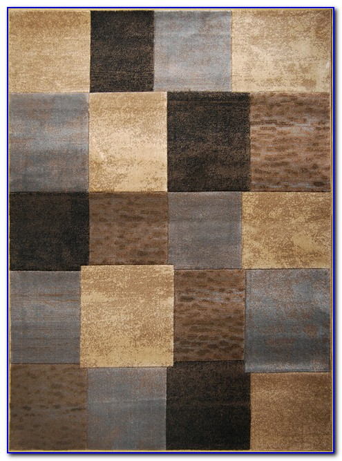 Grey White Area Rug 8x10