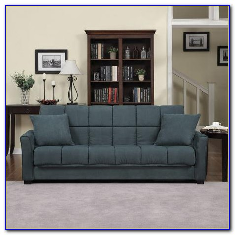 Handy Living Convert A Couch Chenille Sleeper Sofa In Chocolate